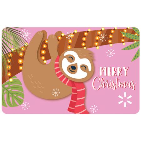Sloth Christmas Walmart eGift Card