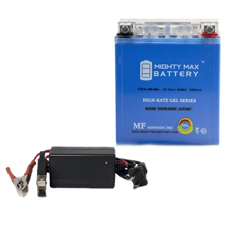 12v Ac Gel Battery (YTX7L-BS GEL Battery Replaces Origin ORX7LBS-FS + 12V 1Amp Charger )