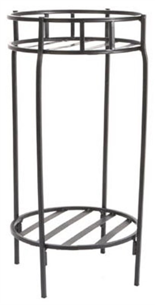 Plant Stand, Double, Contemporary Black Steel, 20.5 X 10.5\ by Panacea Products Corp-Import