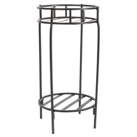 Plant Stand, Double, Contemporary Black Steel, 20.5 X 10.5
