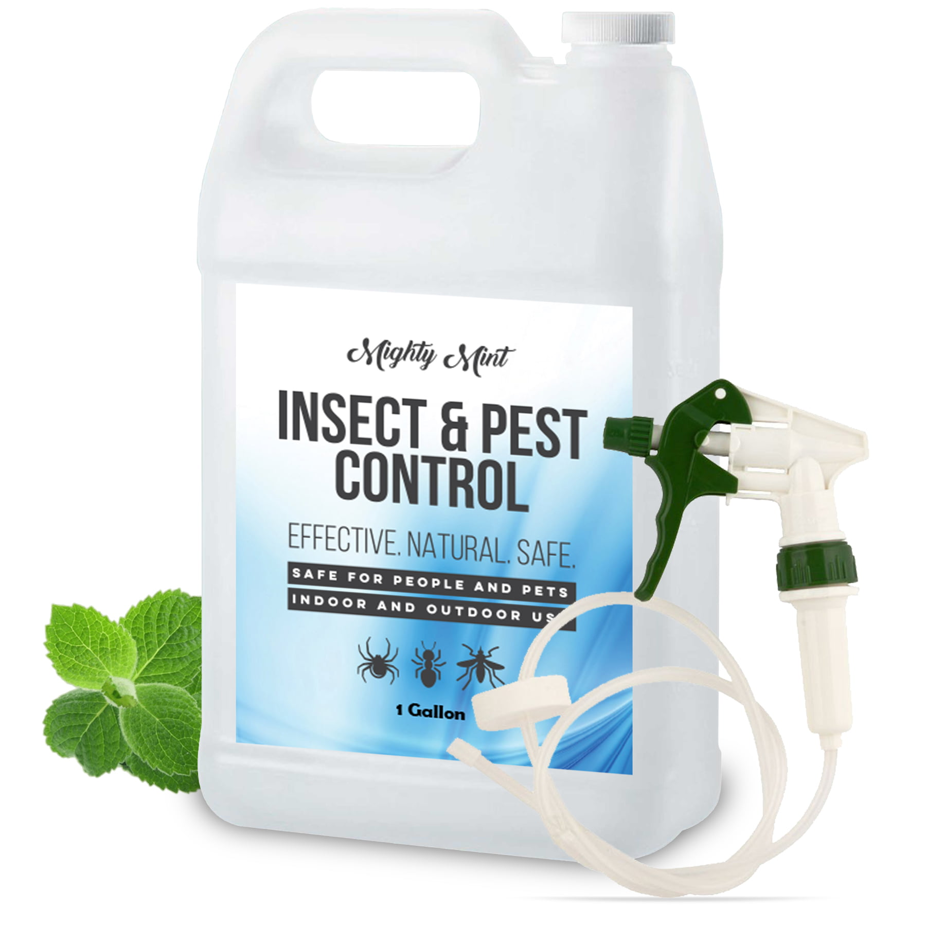 Mighty Mint Gallon 128 Oz Insect And Pest Control Peppermint Oil Natural Spray For Spiders Ants And More Non Toxic Walmart Com Walmart Com