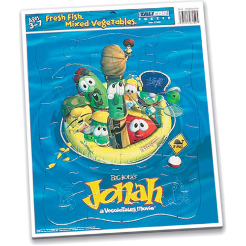 Veggies Jonah-Themed Inlaid Puzzle, 24 Pieces