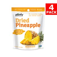 Planty Dried Fruit Snacks, No Sugar Added, Non-GMO, Vegan and Kosher Certified (Pineapple, 4-Pack)