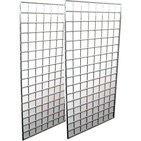 2-Pack Wire Grid Panel Display, 2 x 5 ft - 3\