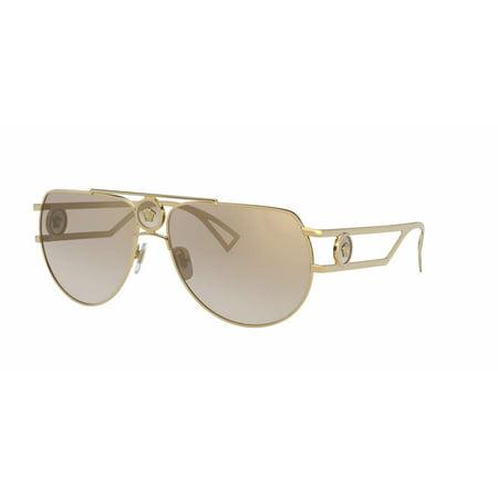 Versace Sunglasses VE2225 10027I 60mm Gold / Brown Mirror Gold Gradient Lens