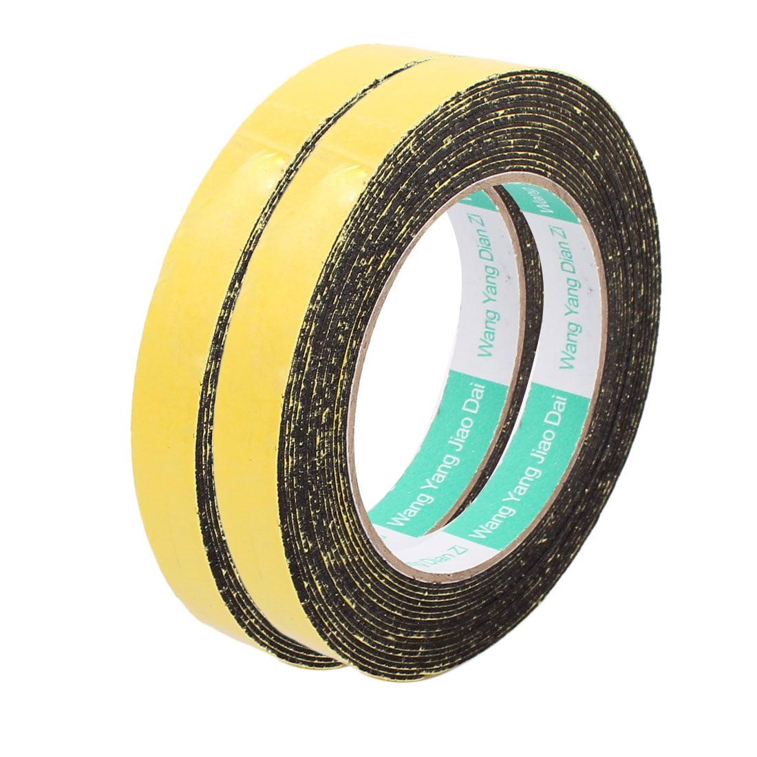 2pcs 15mm x 1mm Single Sided Self Adhesive Shockproof Sponge Foam Tape 5M Length