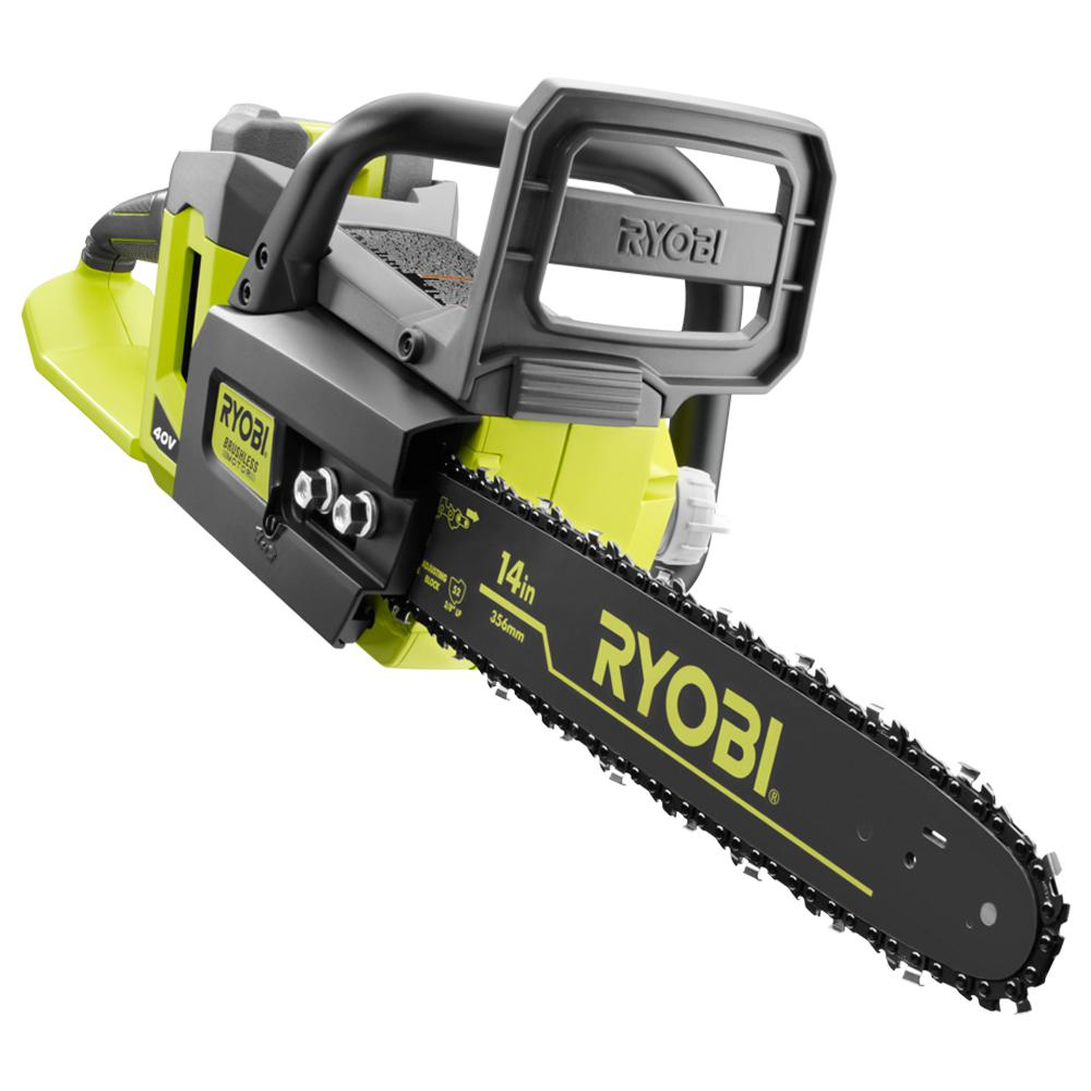 Ryobi chainsaw 14 in 40 volt lithium ion brushless electric ryobi chainsaw 14 in 40 volt lithium ion brushless electric cordless chain saw ry40511 walmart greentooth Choice Image