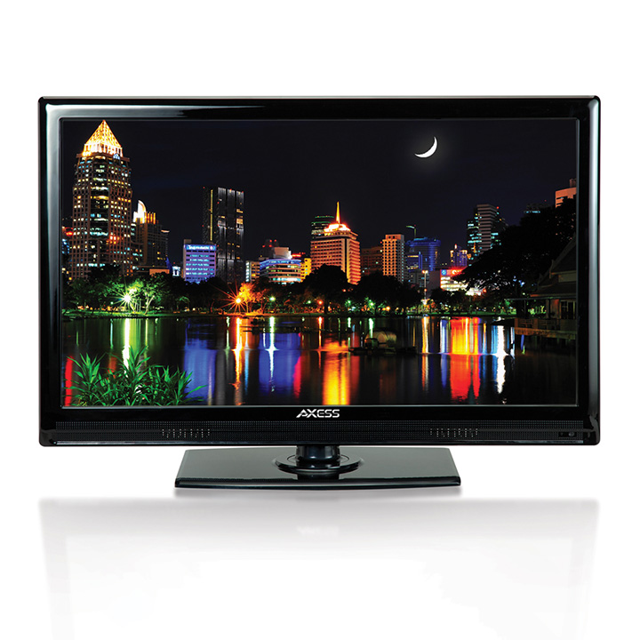 Axess 24 In 1080p LED HDTV Features 12V Car Cord Technolo...