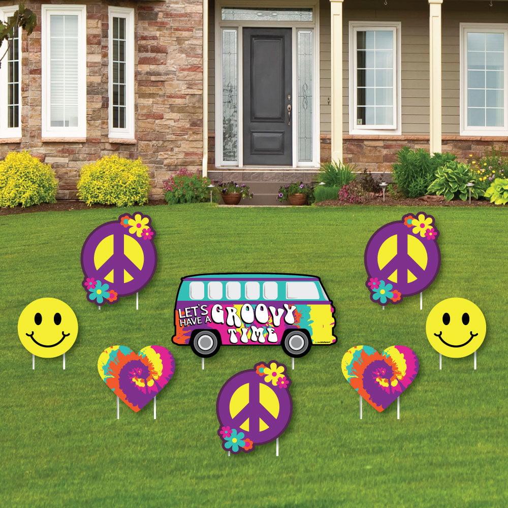 Big Dot of Happiness 60's Hippie - Yard Sign & Outdoor La...