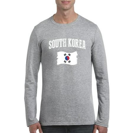 Normal Is Boring South Korea Men Softstyle Long Sleeve T Shirt
