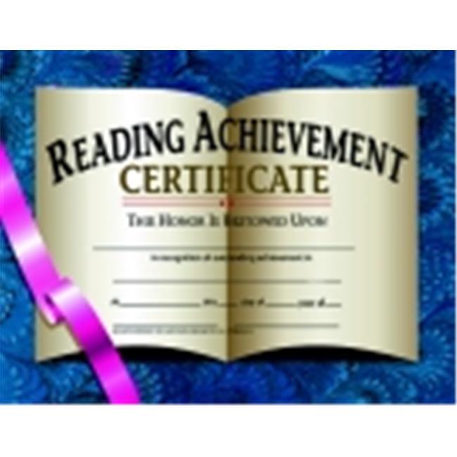 Hayes 8. 5 x 11 inch Reading Achievement Certificate, Pack 30