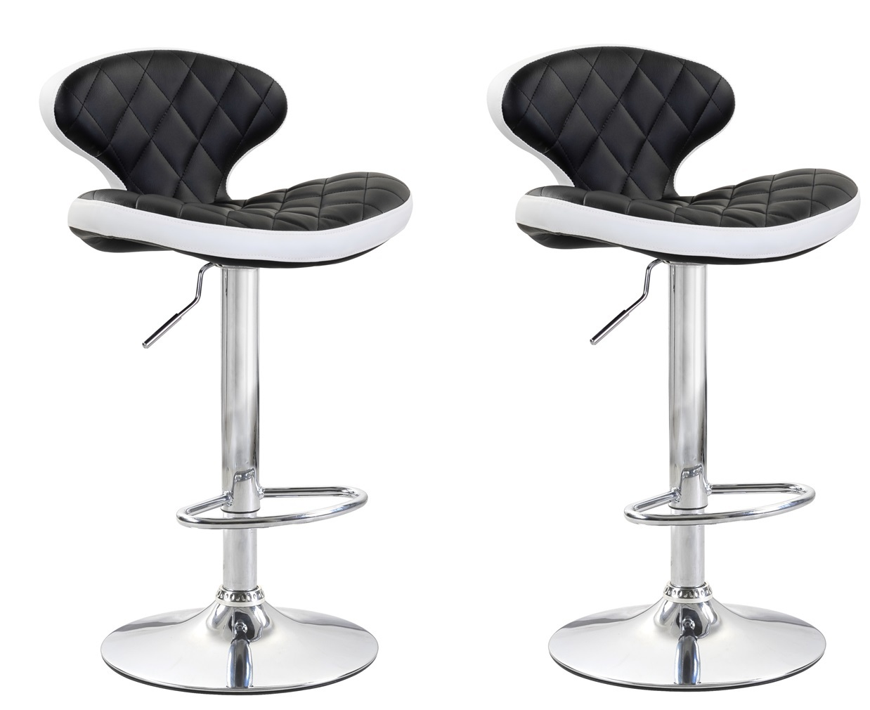 Viscologic Series Mystique Height Adjule Swivel 24 To 33 Inch Bar Stool Set Of 2 Stools