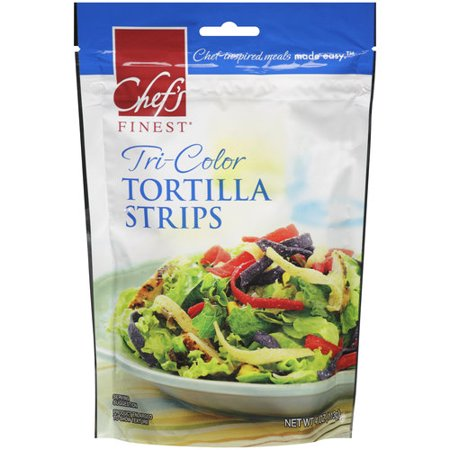 Chef S Finest Tri Color Tortilla Strips 4 Oz Walmart Com