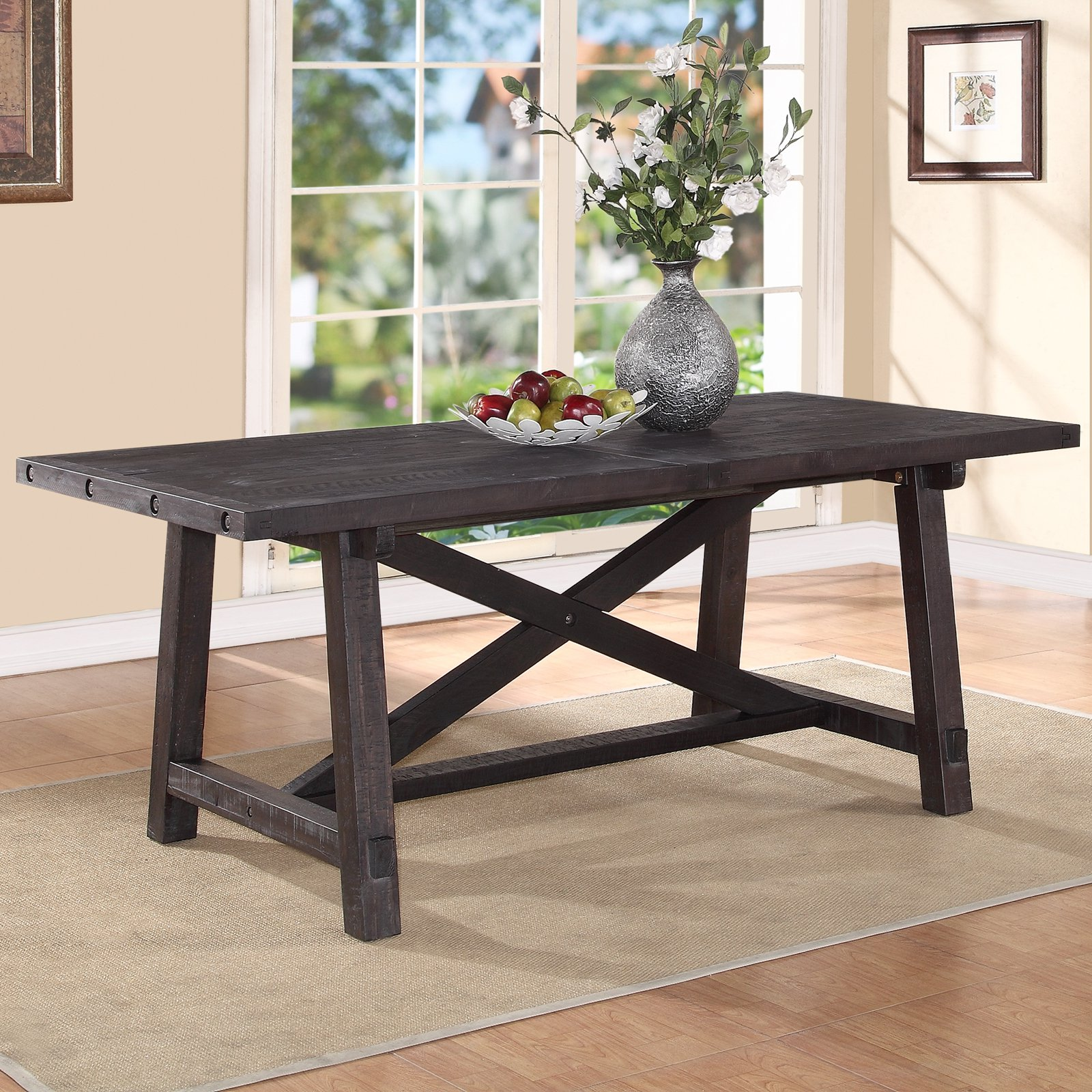Modus Yosemite Solid Wood Rectangular Extension Table   Cafe   Walmart.com
