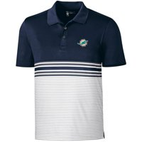 5e409f3be Product Image Miami Dolphins CBUK by Cutter   Buck Heron Lakes Striped Polo  - Navy - 3XL