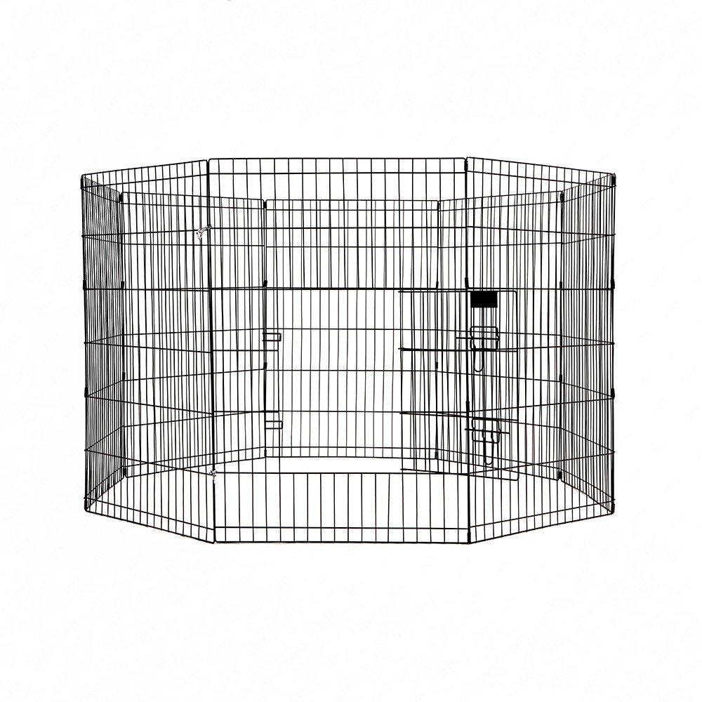 M.M 8 Panel Pet Playpen Dog Cage Kennel Crate Metal Enclosure Fence by