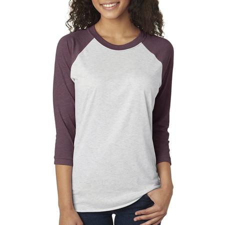 Next Level Apparel Women's 3/4-Sleeve T-Shirt, Style NL6051