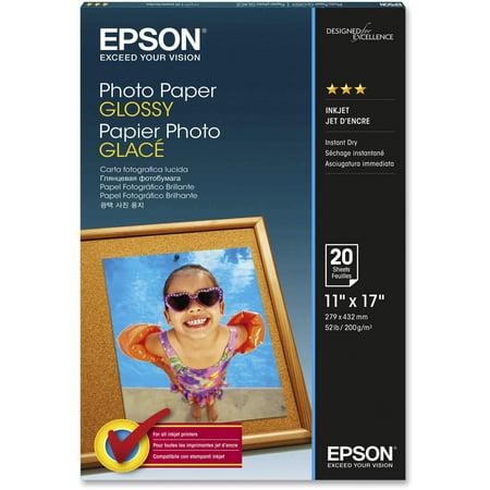Epson, EPSS041156, Glossy Finish Photo Paper, 20 / Pack, White ()