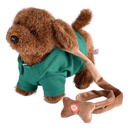 Doll Gift for Kids Electronic Pet Dog Cute Plush Toys Singing Walking Musical Puppy Pet Soft Toys For Baby Kids Green Birthday Gift
