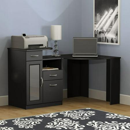Bush Furniture Vantage Corner Desk in Classic Black