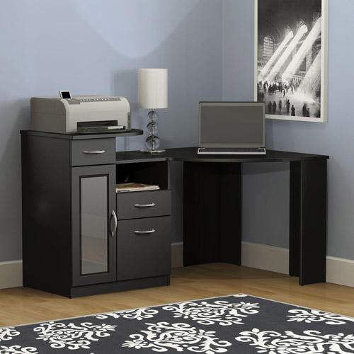 Bush Furniture Vantage Corner Desk in Classic Black