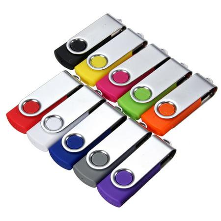 256MB USB Flash Drive Memory Stick Fold Storage Thumb Pen Drive Swivel