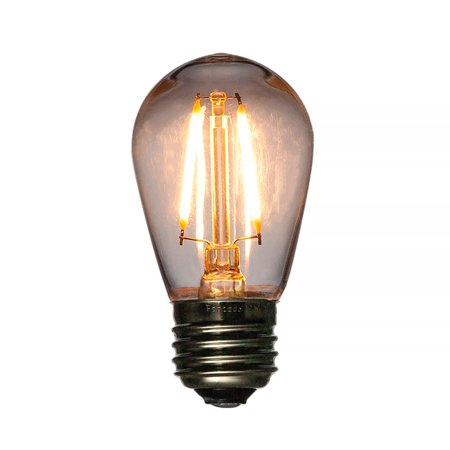 Fantado LED Filament S14 Shatterproof Light Bulb, Dimmable, 1W, E26 Medium Base by PaperLanternStore