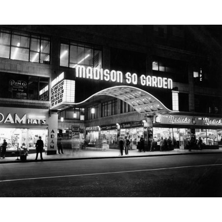 1950s Madison Square Garden Marquee Night West 49Th Street Billing Ice Capades Of 1953 Building Demolished 1968 Nyc Ny