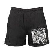 Close Your Eyes Men's  90s Hardcore Gym Shorts Black