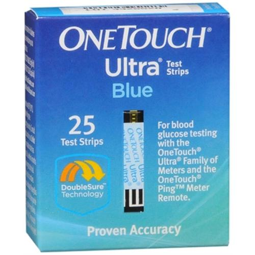 OneTouch Ultra Blue Test Strips 25 Each (Pack of 3)