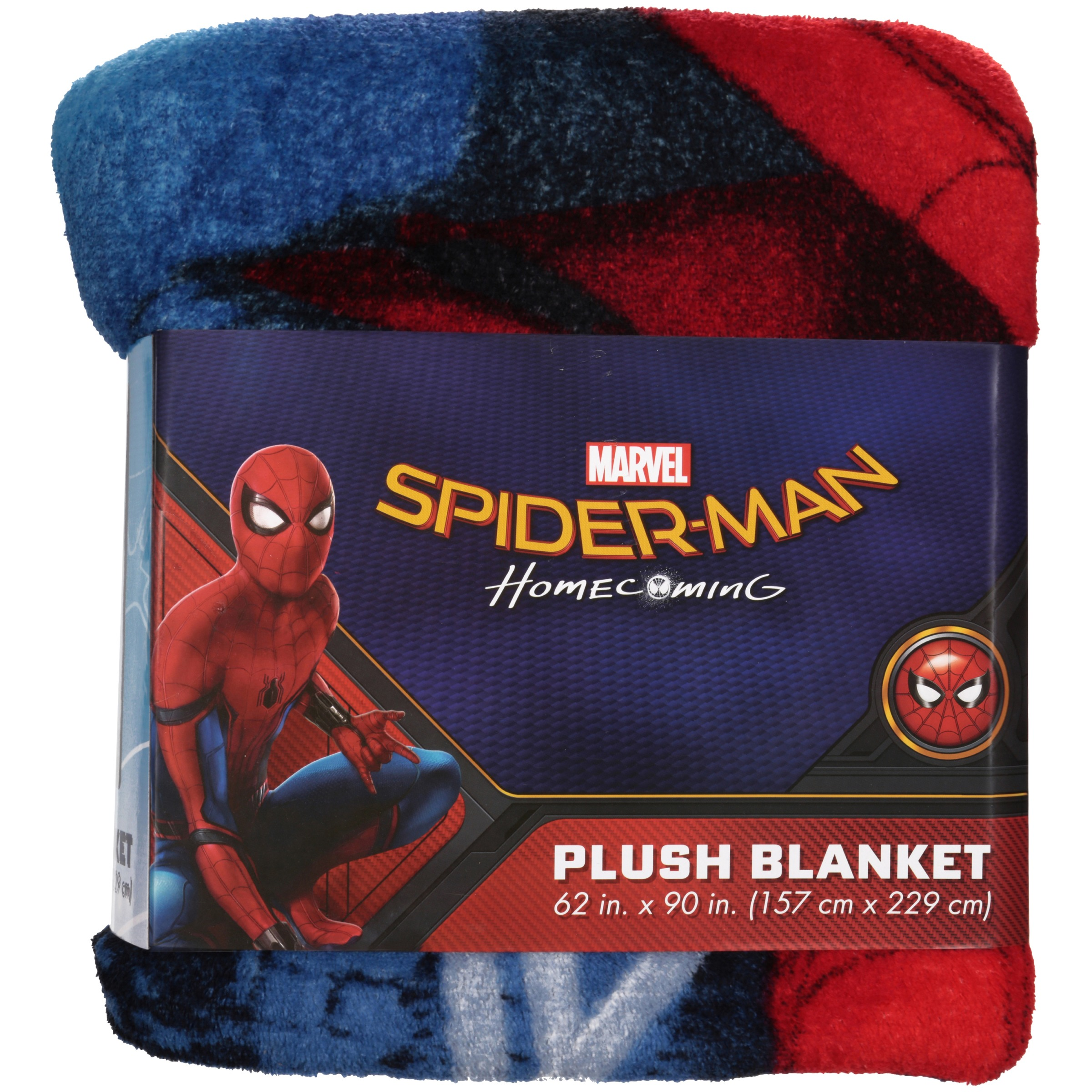 Marvel C Spiderman 62 X 90 Plush Blanket Kid S Bedding Walmart Com