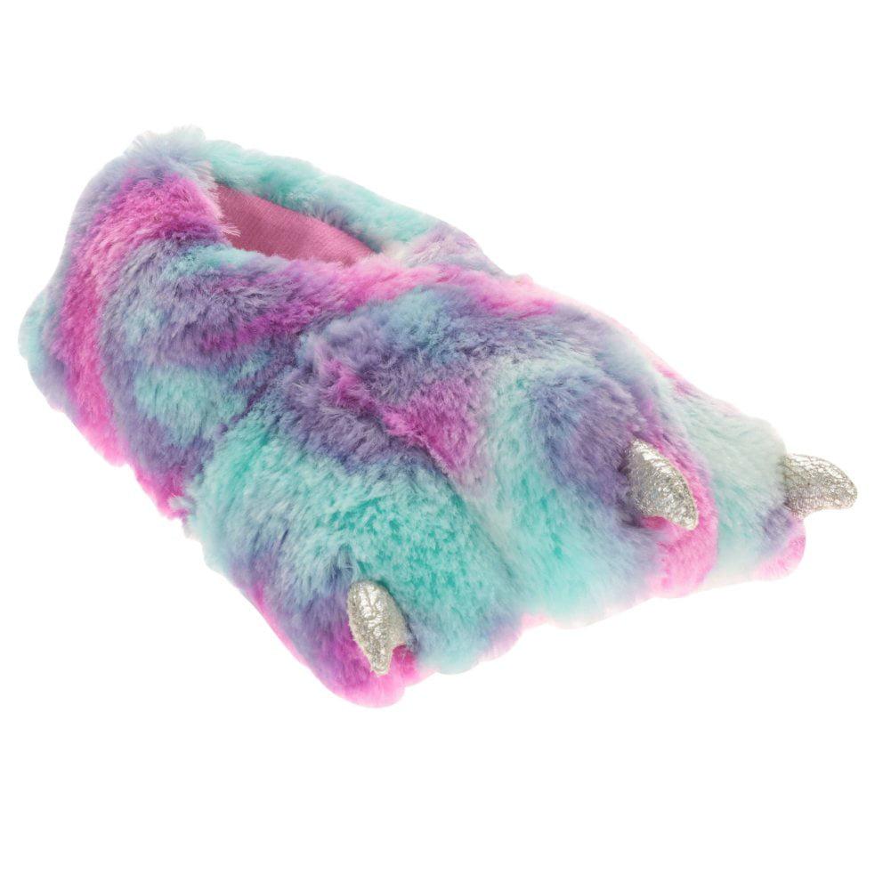Girls Plush Silver Rainbow Monster Claw