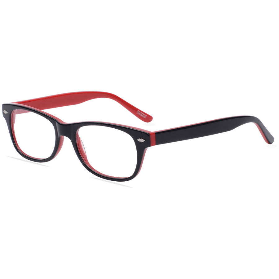 Pomy Eyewear Womens Prescription Glasses, 315 Black Red