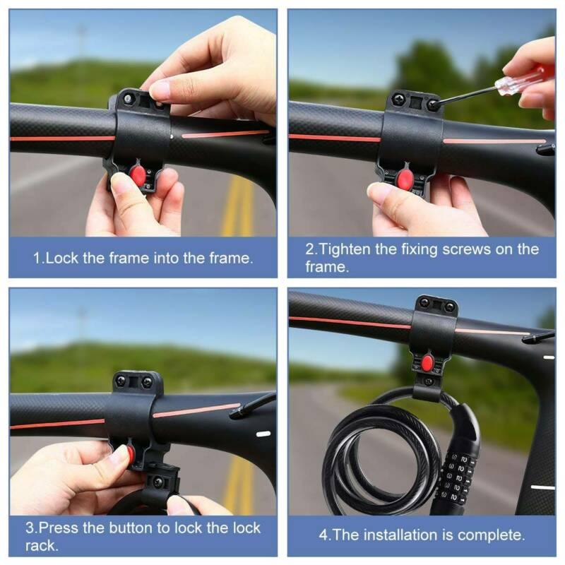 Bicycle Code Cable Lock Road Bike Anti-theft Digital Password Lock CabYJCAYUCA