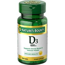 Vitamins & Supplements: Nature's Bounty Vitamin D Tablets