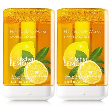 Kitchen Lemon SmartSoap Refills - Pair of TWO (2) Bath & Body Works Ultra-Rich Foaming Smart Soap Hand Soap Dispenser Refills (8.75 fl oz each)