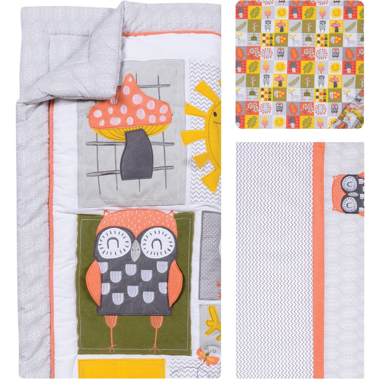 Trend Lab Olive Owl 5-Piece Crib Bedding Set