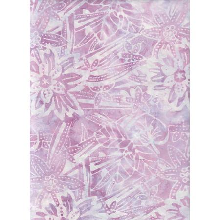 Timeless Treasures Tonga Batik Lavender Wildflower Bouquet Java Watercolor Blender B1220 ~ HALF YARD!! ~ Tie Dye (Ikat) Bali Batik Quilt Fabric 100% Cotton 45