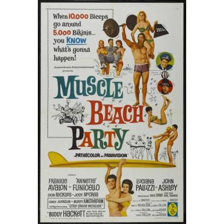 Muscle Beach Party Movie Poster 11x17 Mini - Mini Muscle Man