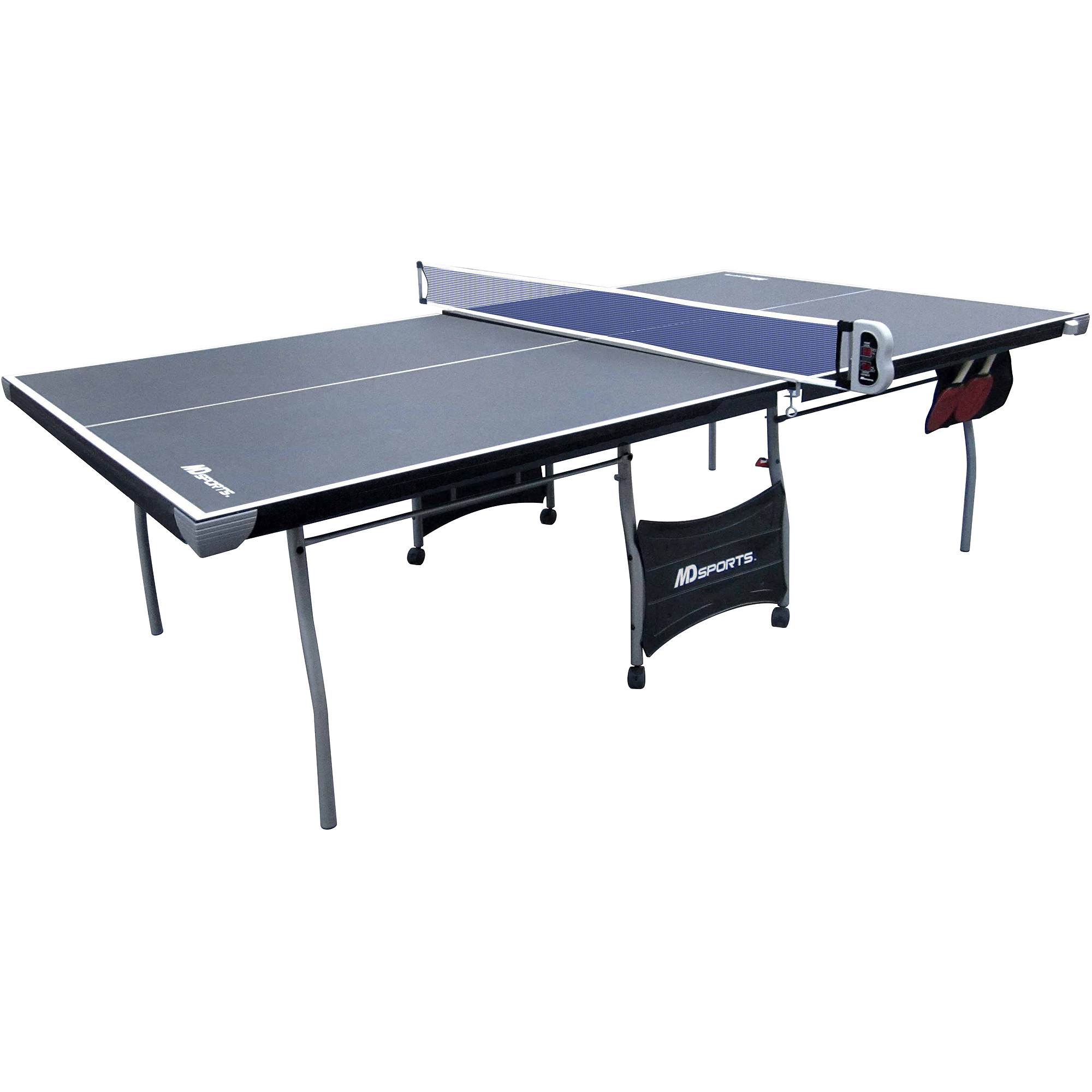 Charming Medal Sports Indoor Recreational 4 Piece Table Tennis Table With Electronic  Scorer