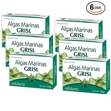 - Natural Skin Exfoliating Seaweed Soap Jabon de Algas Marinas 3.5oz 6pcs by Grisi