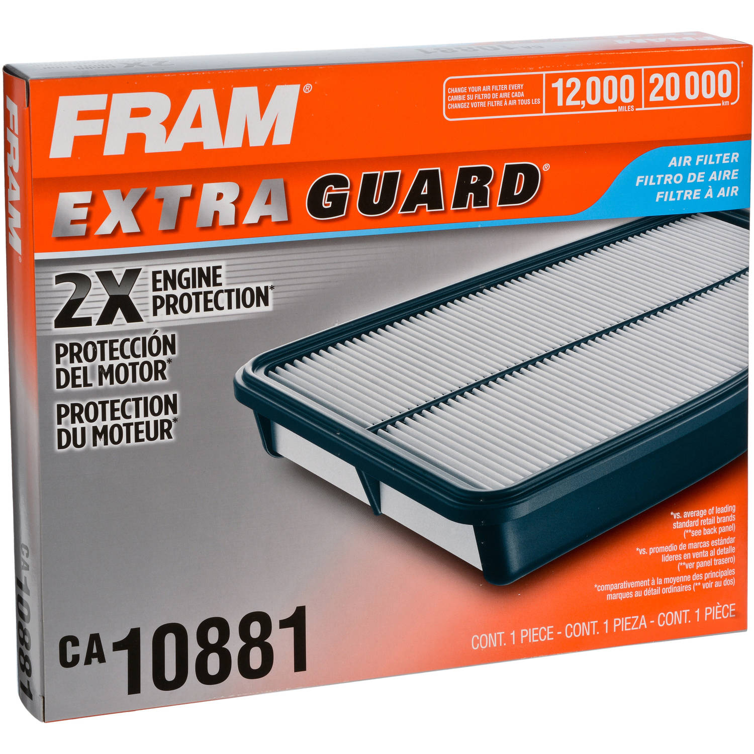 FRAM Extra Guard Air Filter, CA10881