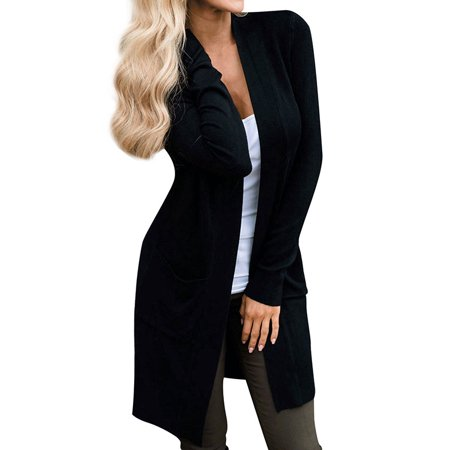 Starvnc - Starvnc Women Solid Color Long Sleeve Open Front Cardigan -  Walmart.com 824c0e926