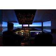 The Cockpit Dc 9 Aviation Simulator The Md-80-11 Inch By 17 Inch Laminated Poster With Bright Colors And Vivid Imagery-Fits Perfectly In Many Attractive Frames