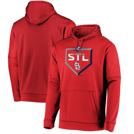 St. Louis Cardinals Majestic 2019 Postseason Dugout Authentic Pullover Hoodie - Red Majestic Athletic Mens Pullover