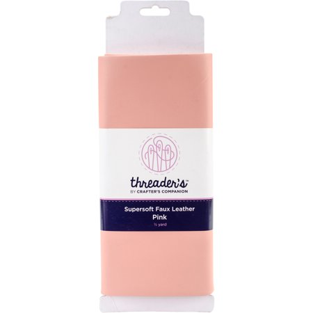 Threaders Supersoft Pink Faux Leather Panel (Pink Leather)