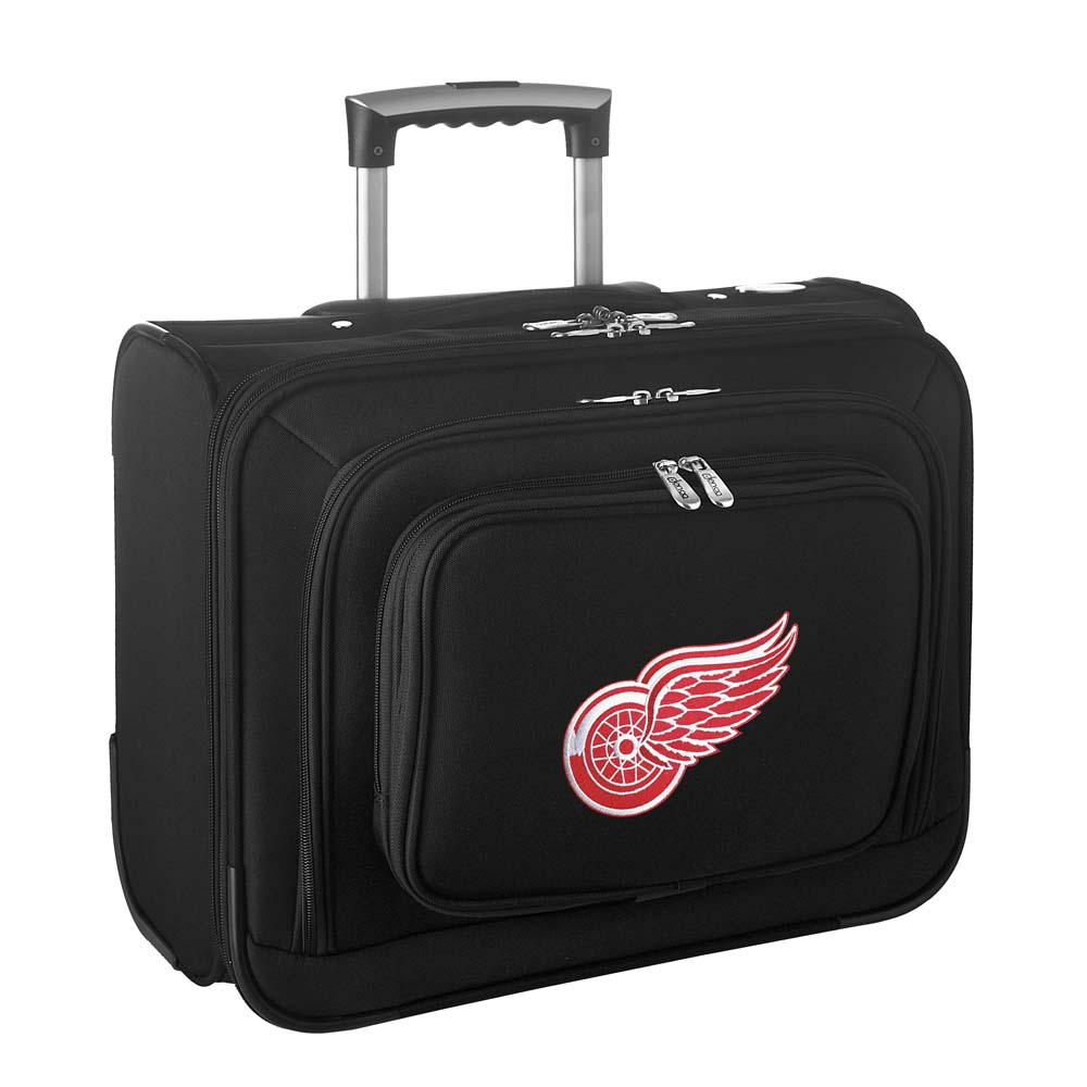 Denco NHL Wheeled Laptop Overnighter, Detroit Red Wings by Mojo Licensing
