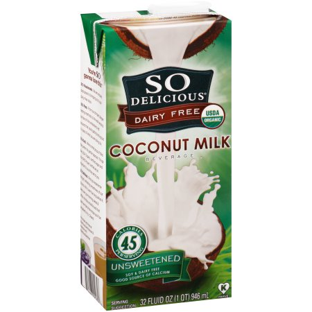 (2 Pack) So Delicious Dairy Free Unsweetened Coconut Milk Beverage, 32 fl oz