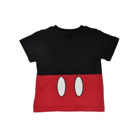 Disfraz Disney Halloween (Disney Mickey Mouse Halloween Costume T-Shirt Red Black)