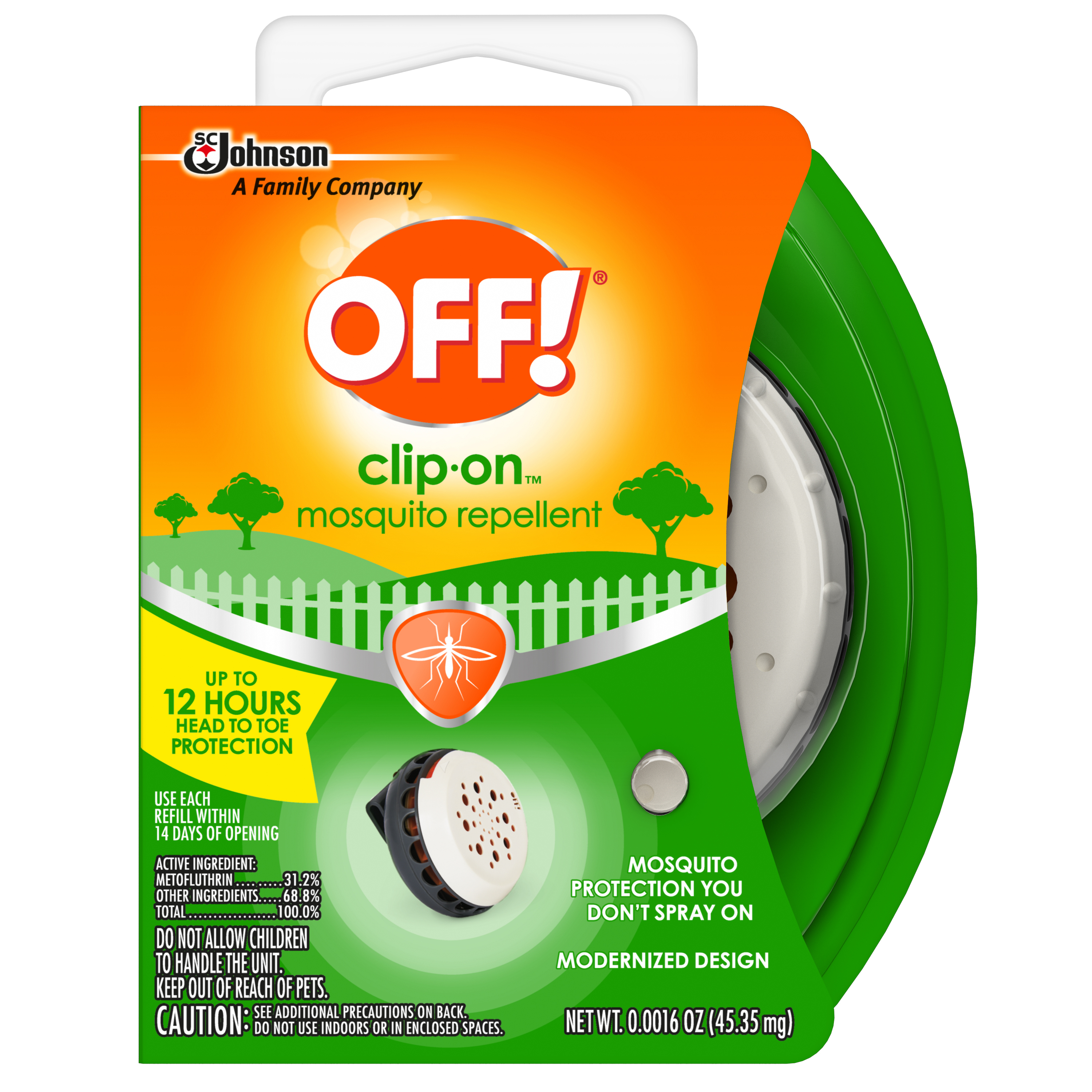 OFF! Clip-On Mosquito Repellent 0.0016 oz